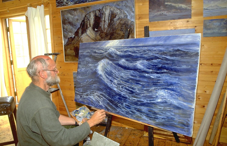 14-058=N-0367-N-Nordland, Kjerringöy, Maler Karl Erik Harr